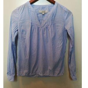 Loft long sleeve pinstripe tunic